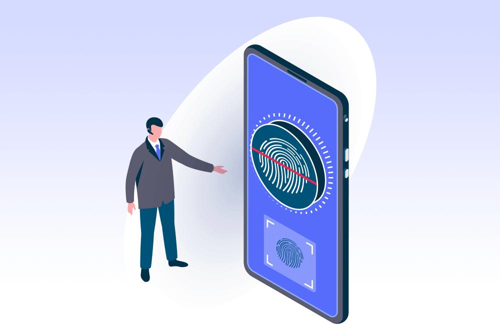 Biometriskt lösenord illustration